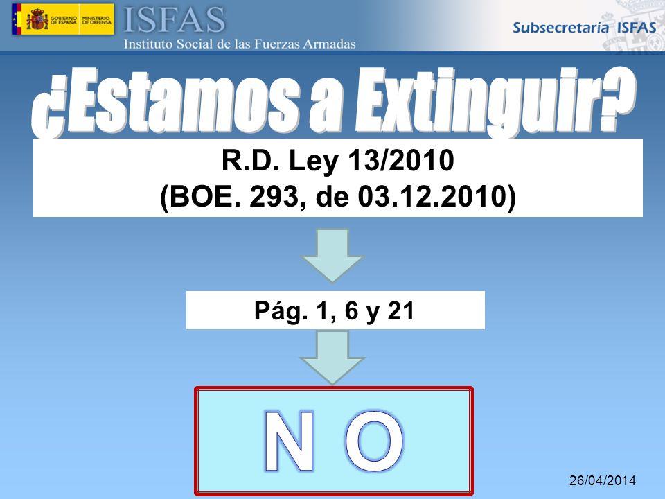 26/04/2014 R.D. Ley 13/2010 (BOE. 293, de 03.12.2010) Pág. 1, 6 y 21