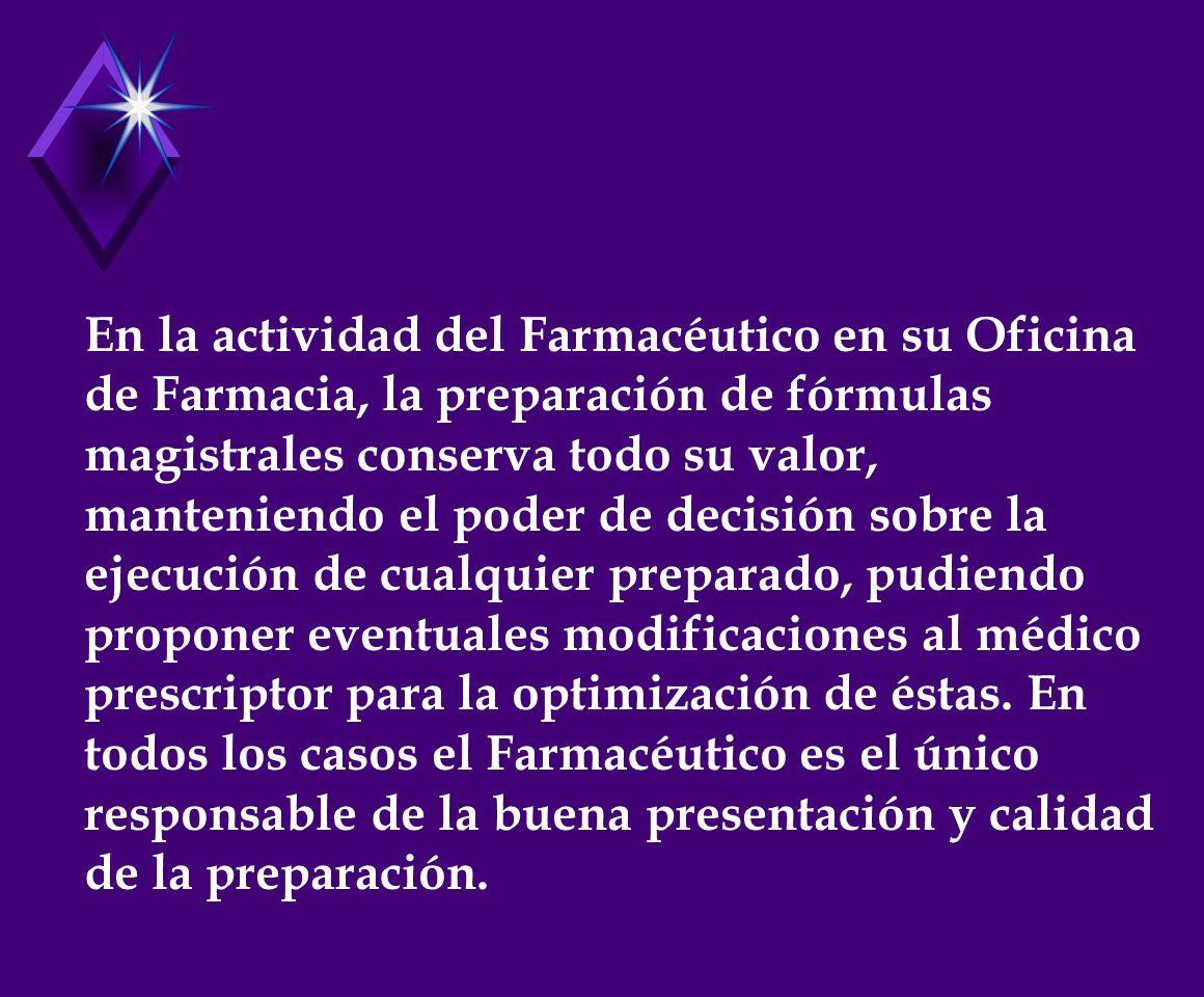 CONCLUSIONES 1.ASEGURAR LA CALIDAD DE LOS MEDICAMENTOS MAGISTRALES PREPARADOS EN LA OFICINA FARMACÉUTICA, APLICANDO EN TODO EL PROCESO DE SU ELABORACIÓN: ESTRICTAS NORMAS DE B.P.E.M.
