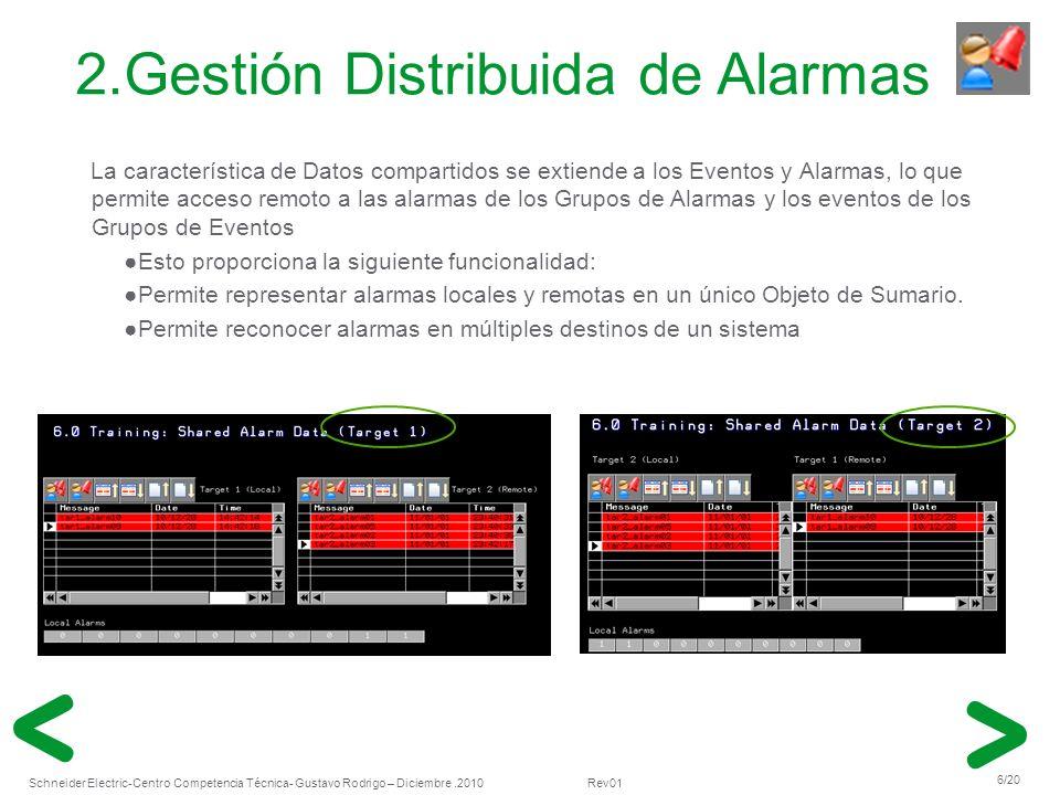 Schneider Electric 17/20 -Centro Competencia Técnica- Gustavo Rodrigo – Diciembre.2010 Rev01 Añadir Unidades al Numeric Display Los objetos Numeric Display serán capaces de visualizar información numérica con unidades.