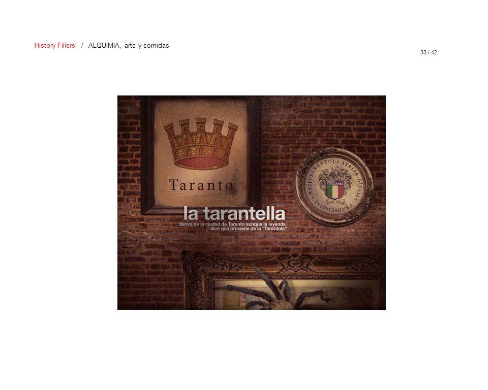 33 / 42 History Fillers / ALQUIMIA, arte y comidas
