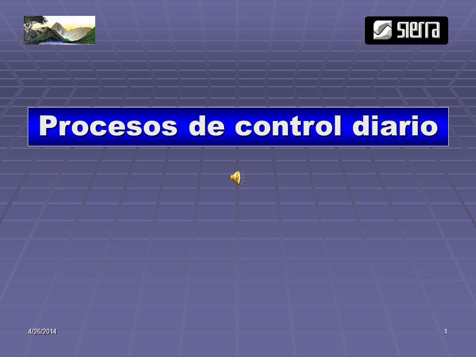 4/26/20142 INGRESOS(Ventas) COSTOS(Recetas) INVENTARIOS (Fugas y Mermas) AREAS DE CONTROL DIARIO MAXIMIZAR UTILIDADES COMPRAS (costo e inventarios óptimos)