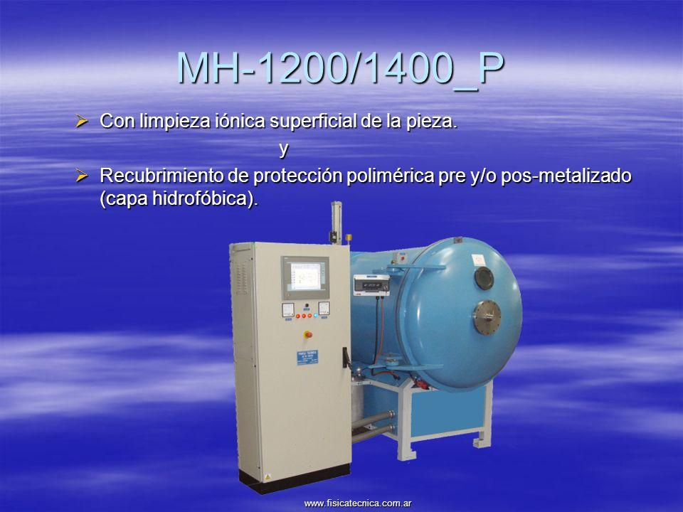 MH-1200/1400_P Con limpieza iónica superficial de la pieza. Con limpieza iónica superficial de la pieza.y Recubrimiento de protección polimérica pre y