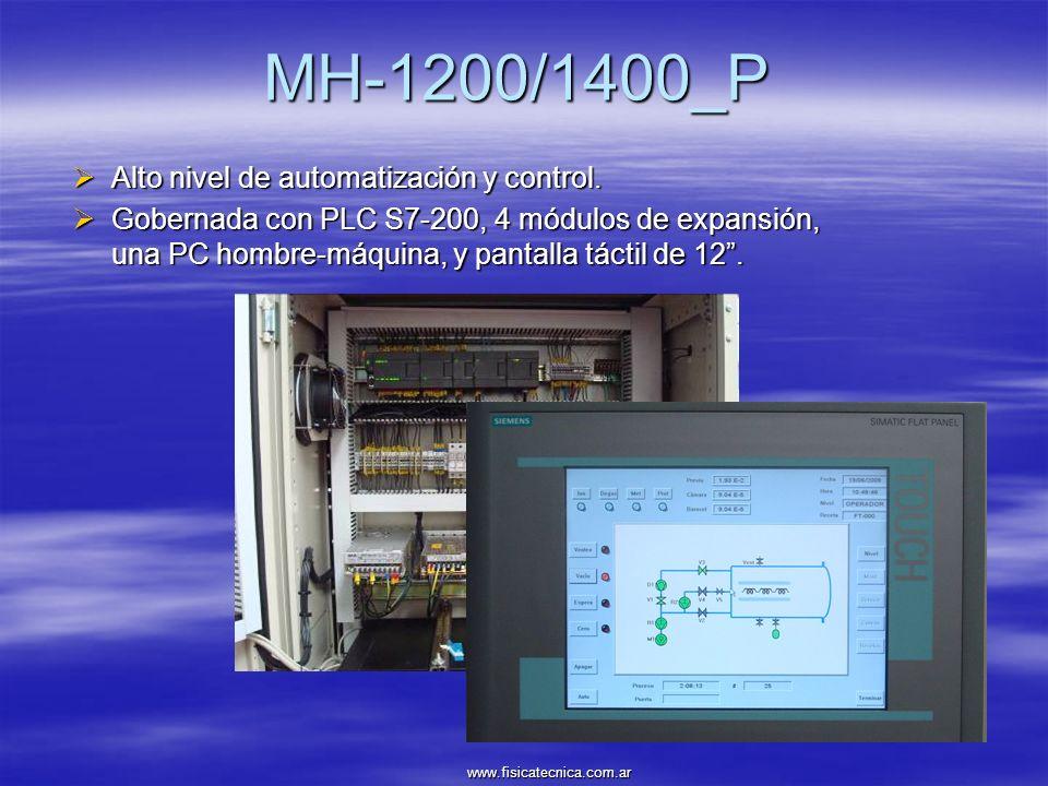 MH-1200/1400_P Alto nivel de automatización y control. Alto nivel de automatización y control. Gobernada con PLC S7-200, 4 módulos de expansión, una P