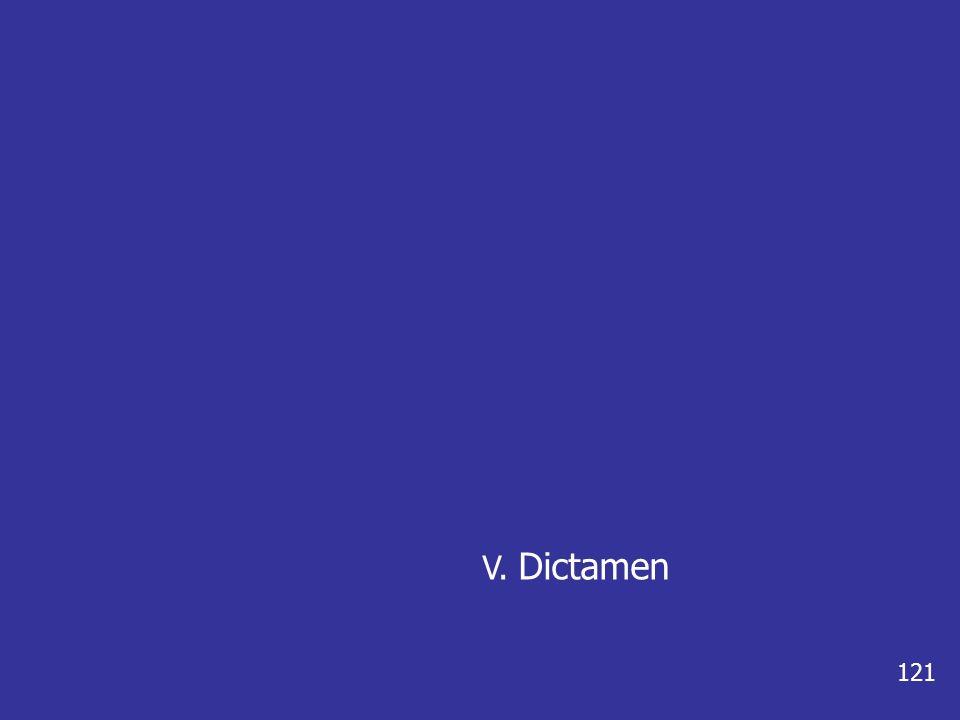 V. Dictamen 121
