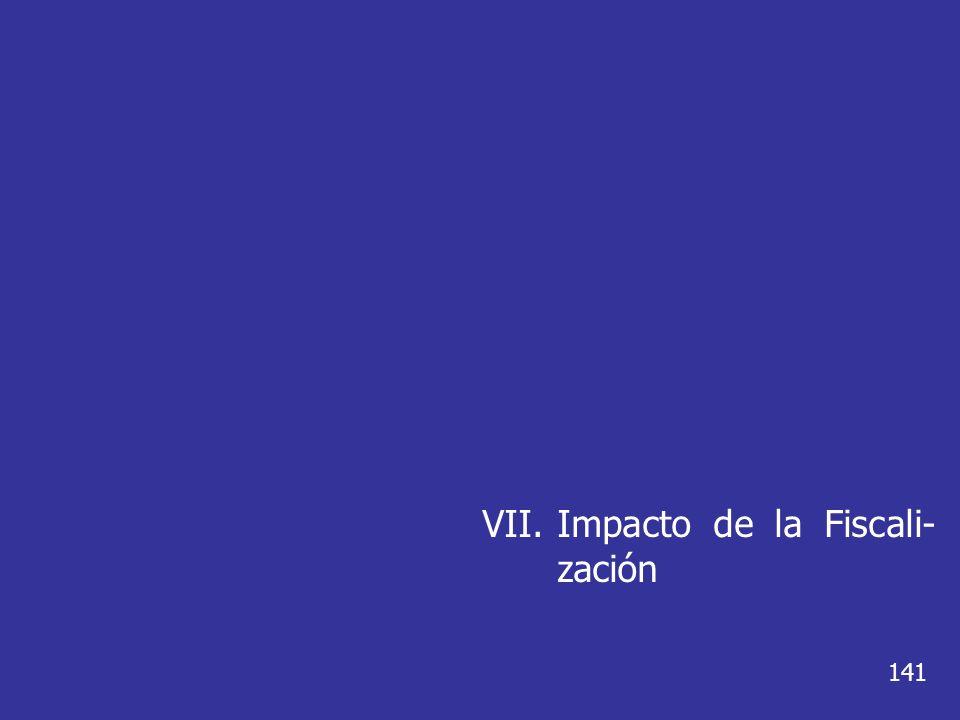 VII.Impacto de la Fiscali- zación 141