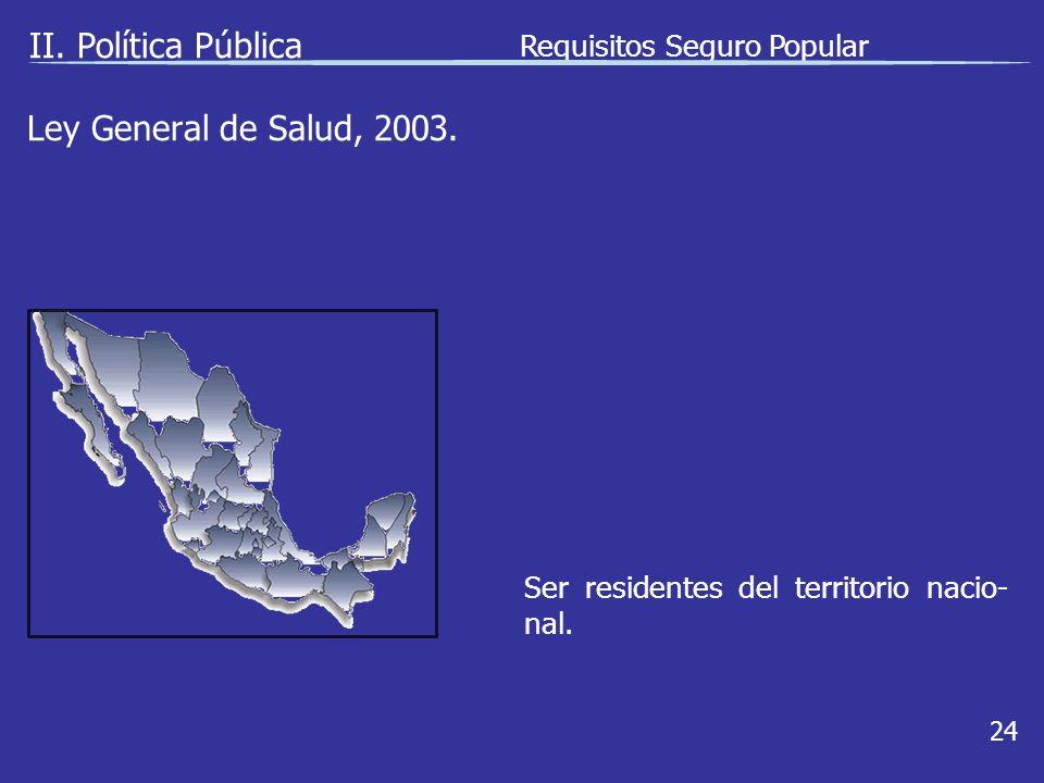Ley General de Salud, 2003.II.