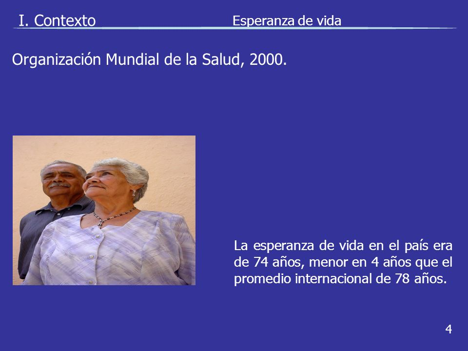 Organización Mundial de la Salud, 2000. I.