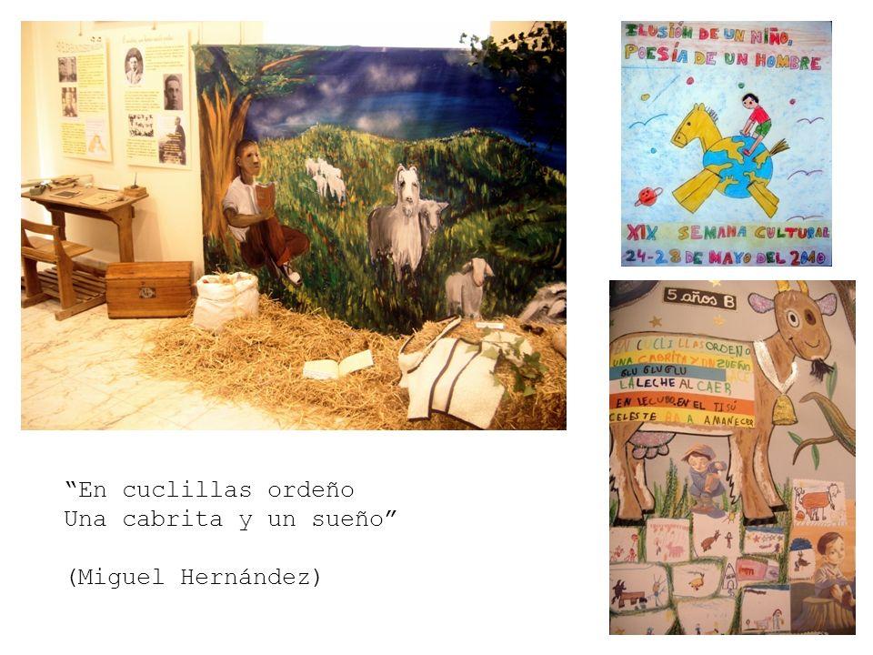 En cuclillas ordeño Una cabrita y un sueño (Miguel Hernández)