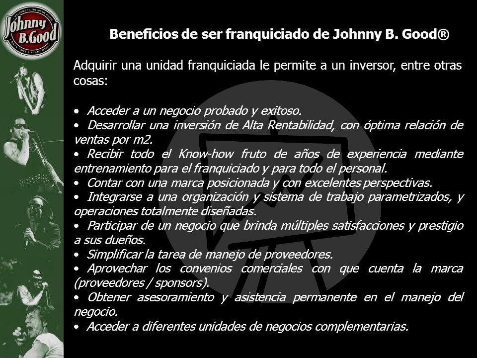 Beneficios de ser franquiciado de Johnny B. Good® Adquirir una unidad franquiciada le permite a un inversor, entre otras cosas: Acceder a un negocio p