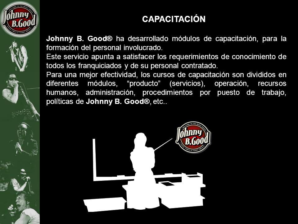 CAPACITACIÓN Johnny B. Good® ha desarrollado módulos de capacitación, para la formación del personal involucrado. Este servicio apunta a satisfacer lo
