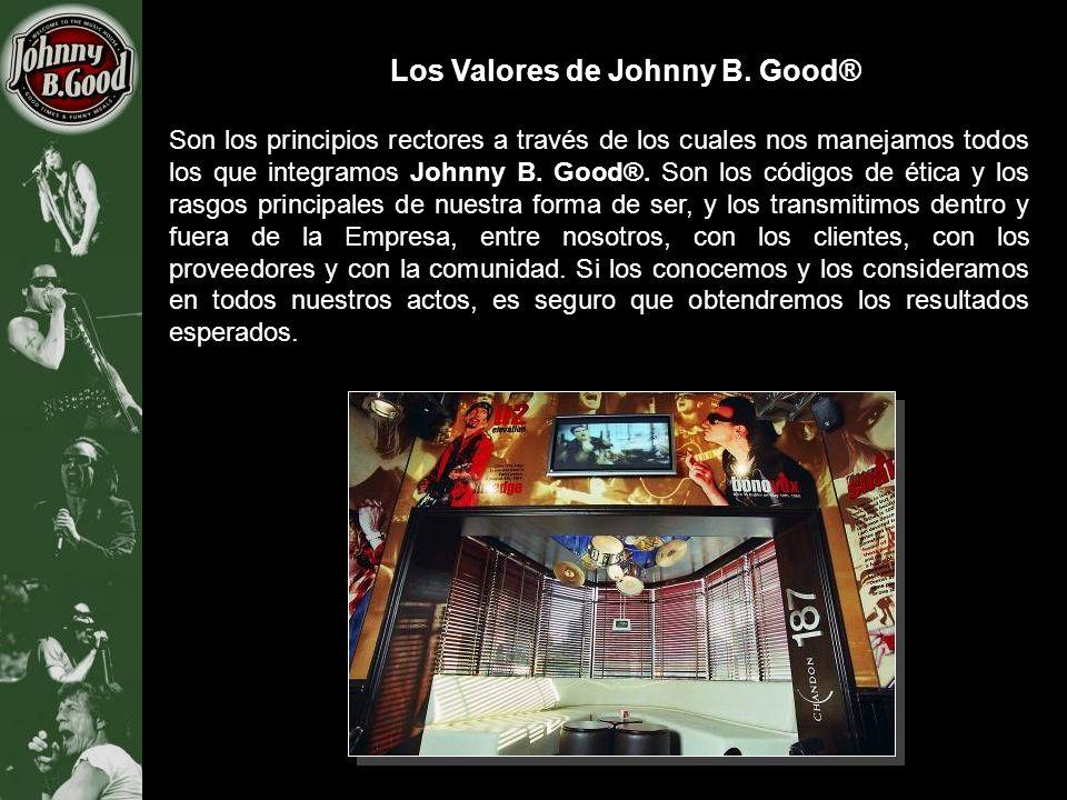 Los Valores de Johnny B. Good® Son los principios rectores a través de los cuales nos manejamos todos los que integramos Johnny B. Good®. Son los códi