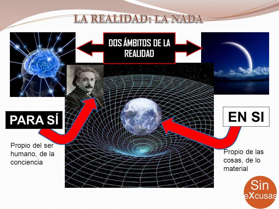 EN SI PARA SÍ Propio de las cosas, de lo material Propio del ser humano, de la conciencia
