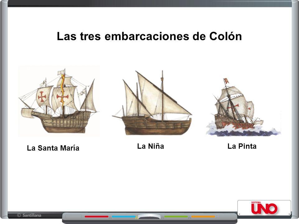 La Niña La Pinta Las tres embarcaciones de Colón La Santa María