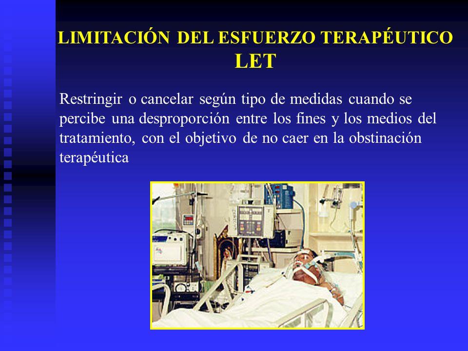 Restringir o cancelar según tipo de medidas cuando se percibe una desproporción entre los fines y los medios del tratamiento, con el objetivo de no ca