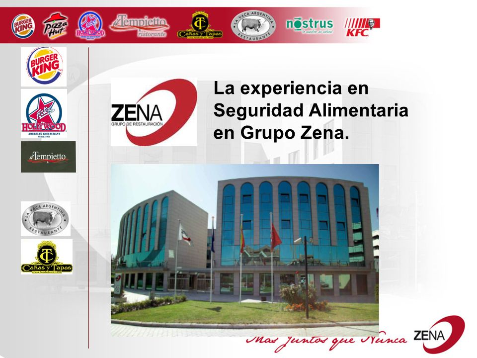 Z ENA: THE LARGEST INDEPENDENT COMPANY IN SPANISH CHANE RESTAURANT BUSINESS The Zena group is the multibrand leader in Spanish chane restaurants.
