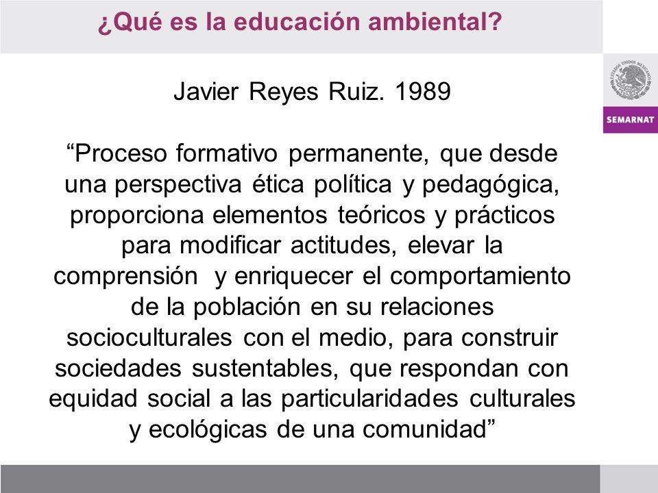 ¿Qué es la educación ambiental.Javier Reyes Ruiz.