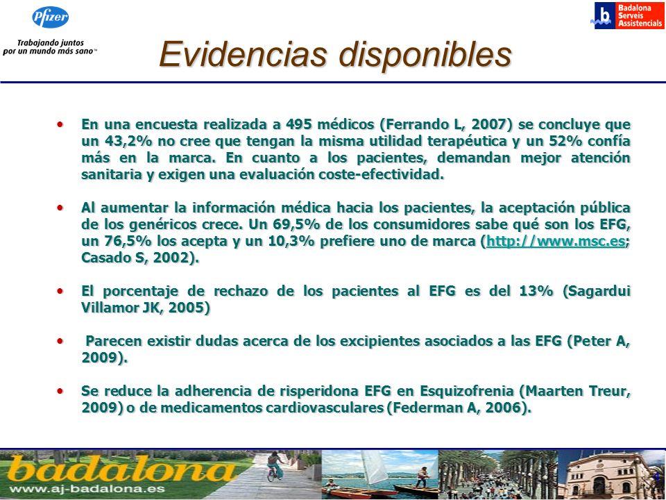 5 Justificación y objetivo Es una práctica común entre los profesionales sanitarios la sustitución masiva de los medicamentos de marca a EFG (prescripción crónica).