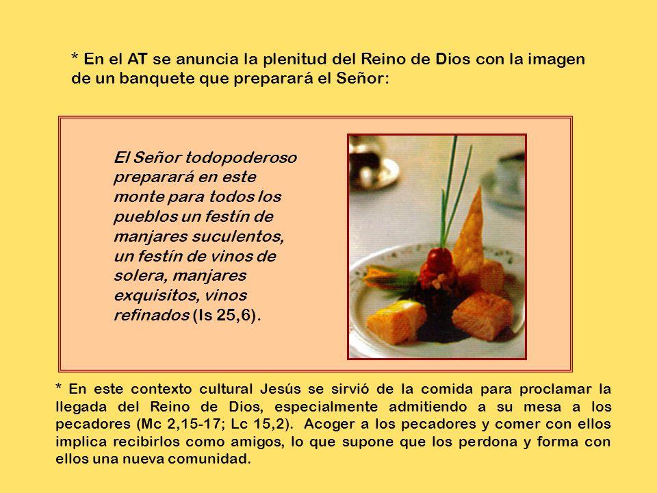2. Significado de los diversos elementos de la Memoria: comida, pascual, sacrificio de acción de gracias, pan ázimo, vino, alusión a la comida escatol