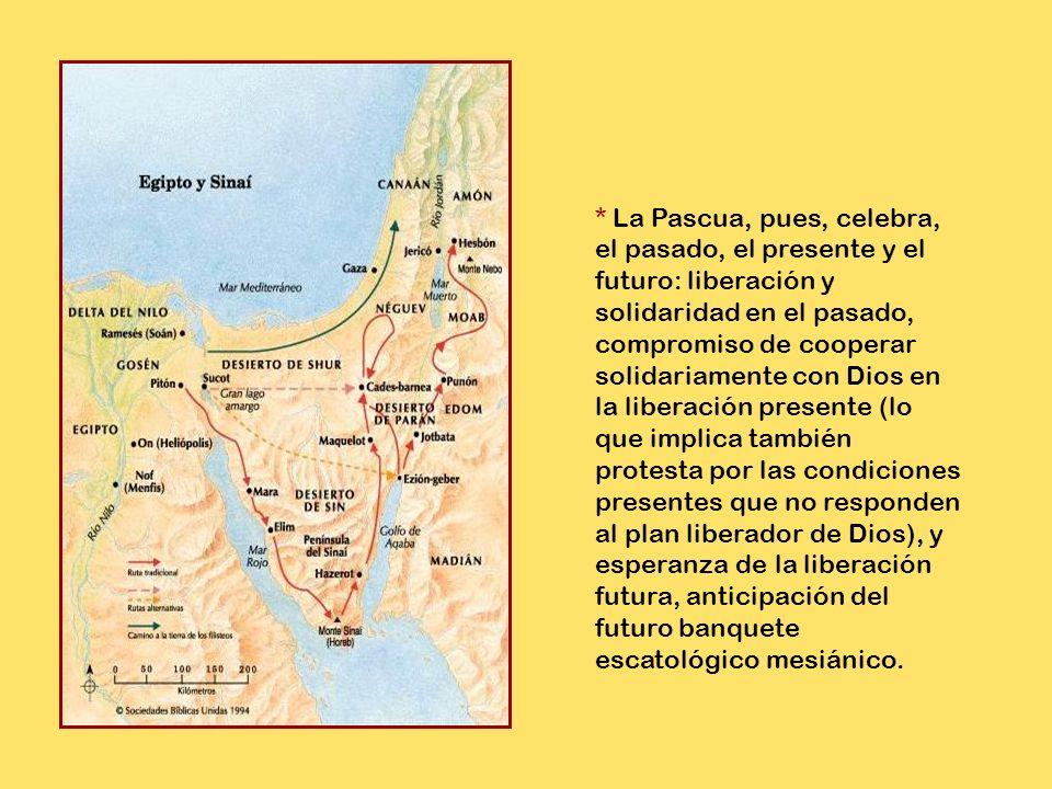 * En este nuevo contexto histórico el pan ázimo pasa a significar el pan de la prisa de Dios y del pueblo (cf. Éx 12,39), prisa de Dios para salvar y