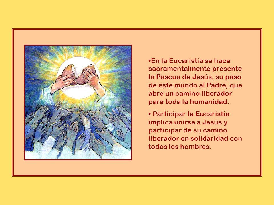 * La Pascua, pues, celebra, el pasado, el presente y el futuro: liberación y solidaridad en el pasado, compromiso de cooperar solidariamente con Dios