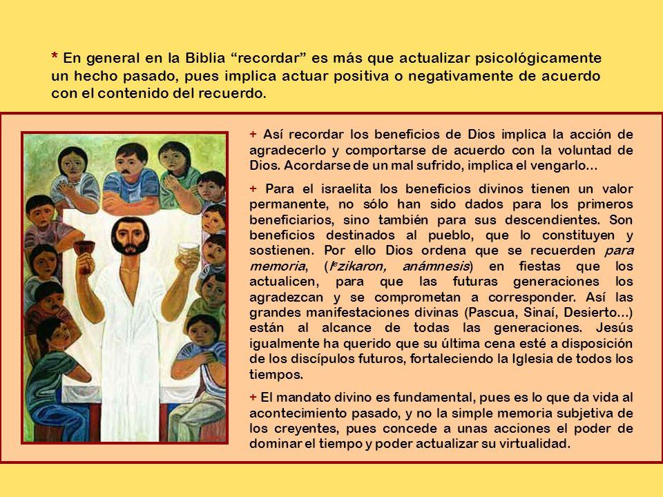 1.Jesús instituyó la Eucaristía como memorial.
