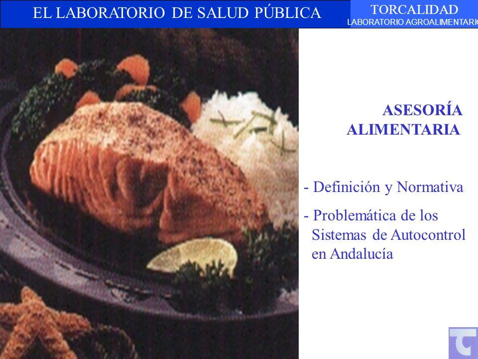 EL LABORATORIO DE SALUD PÚBLICA TORCALIDAD LABORATORIO AGROALIMENTARIO ASESORÍA ALIMENTARIA - Definición y Normativa - Problemática de los Sistemas de Autocontrol en Andalucía