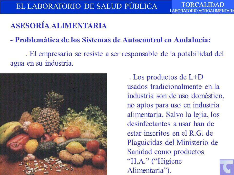 EL LABORATORIO DE SALUD PÚBLICA TORCALIDAD LABORATORIO AGROALIMENTARIO ASESORÍA ALIMENTARIA - Problemática de los Sistemas de Autocontrol en Andalucía:.