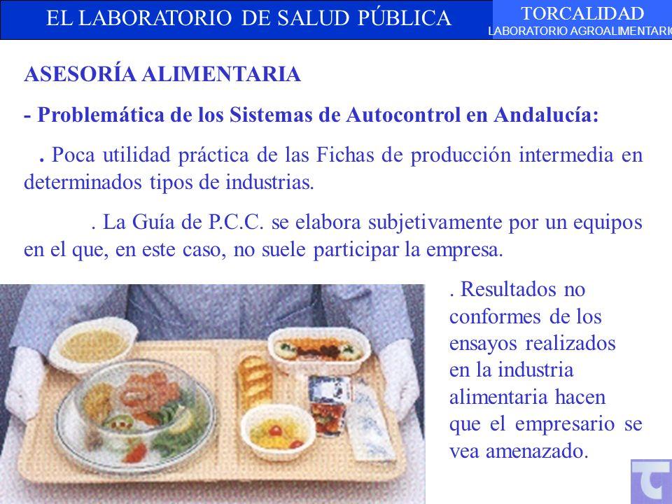 EL LABORATORIO DE SALUD PÚBLICA TORCALIDAD LABORATORIO AGROALIMENTARIO ASESORÍA ALIMENTARIA - Problemática de los Sistemas de Autocontrol en Andalucía
