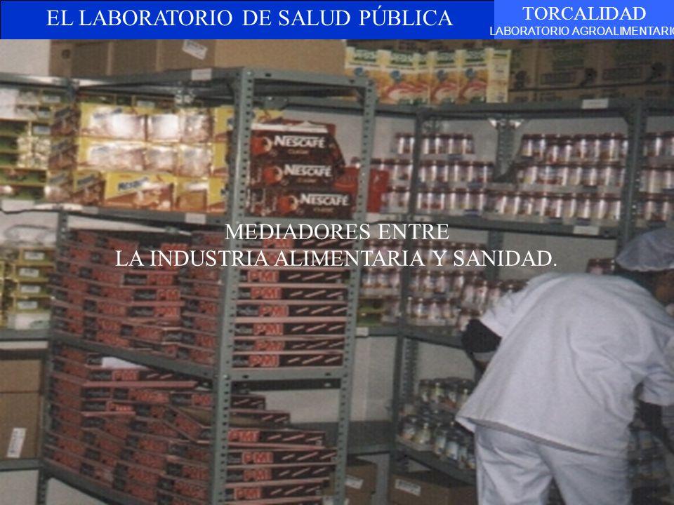 EL LABORATORIO DE SALUD PÚBLICA TORCALIDAD LABORATORIO AGROALIMENTARIO MEDIADORES ENTRE LA INDUSTRIA ALIMENTARIA Y SANIDAD.