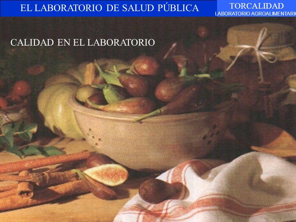EL LABORATORIO DE SALUD PÚBLICA TORCALIDAD LABORATORIO AGROALIMENTARIO Belén Jiménez Martínez CALIDAD EN EL LABORATORIO