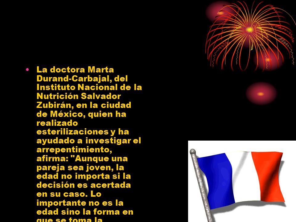 La doctora Marta Durand-Carbajal, del Instituto Nacional de la Nutrición Salvador Zubirán, en la ciudad de México, quien ha realizado esterilizaciones