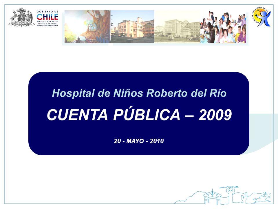 CUENTA PÚBLICA – 2009 20 - MAYO - 2010 Hospital de Niños Roberto del Río