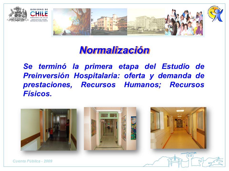 Se terminó la primera etapa del Estudio de Preinversión Hospitalaria: oferta y demanda de prestaciones, Recursos Humanos; Recursos Físicos. Normalizac