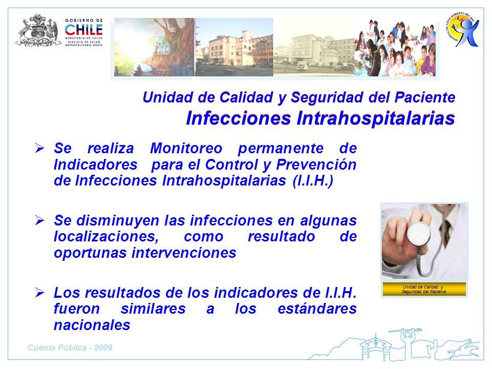 Se realiza Monitoreo permanente de Indicadores para el Control y Prevención de Infecciones Intrahospitalarias (I.I.H.) Se disminuyen las infecciones e