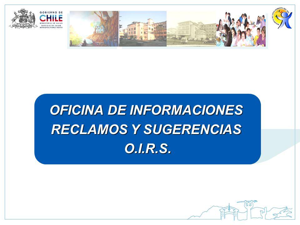 OFICINA DE INFORMACIONES RECLAMOS Y SUGERENCIAS O.I.R.S.