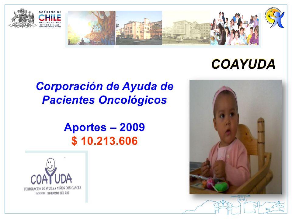 COAYUDA Corporación de Ayuda de Pacientes Oncológicos Aportes – 2009 $ 10.213.606