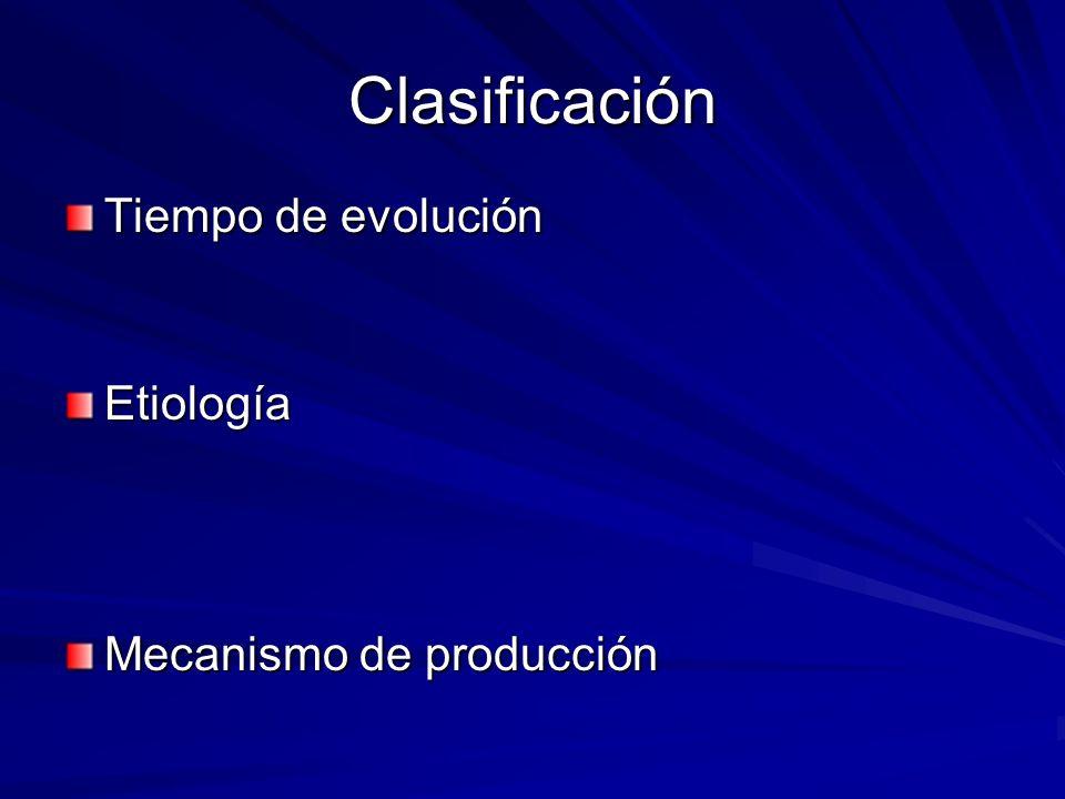 Evolución clínica agudasCrónicas