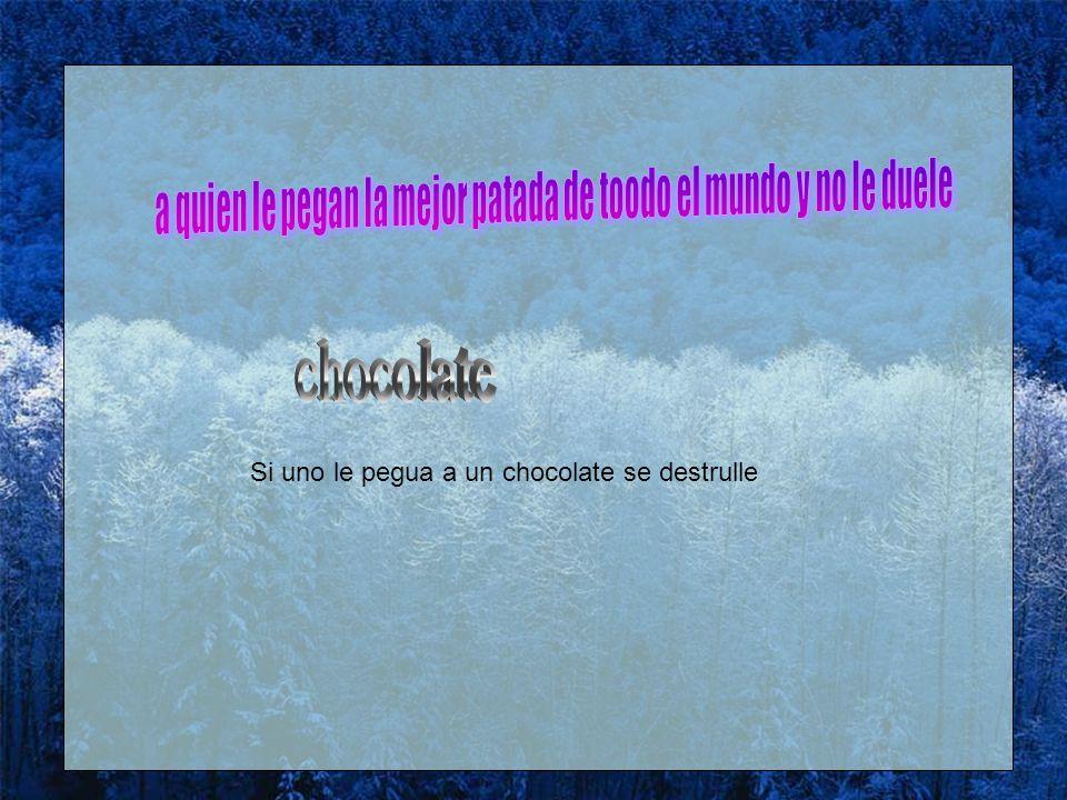 fotos juegos Si uno le pegua a un chocolate se destrulle