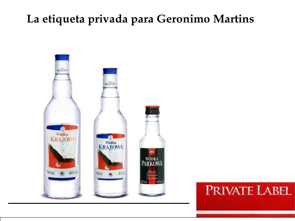 La etiqueta privada para Geronimo Martins