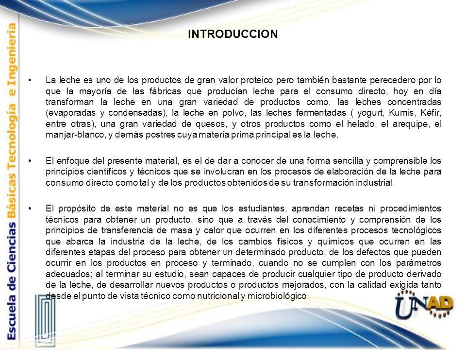 UNIDAD I.CIENCIA DE LA LECHE Y CALIDAD DE LA LECHE Capítulo 1.