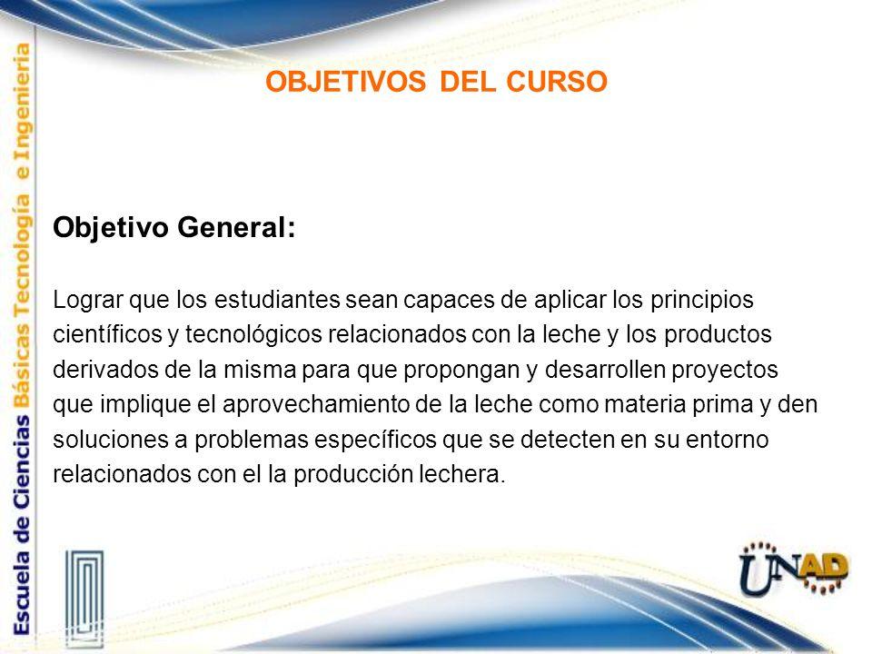 OBJETIVOS DEL CURSO Objetivo General: Lograr que los estudiantes sean capaces de aplicar los principios científicos y tecnológicos relacionados con la