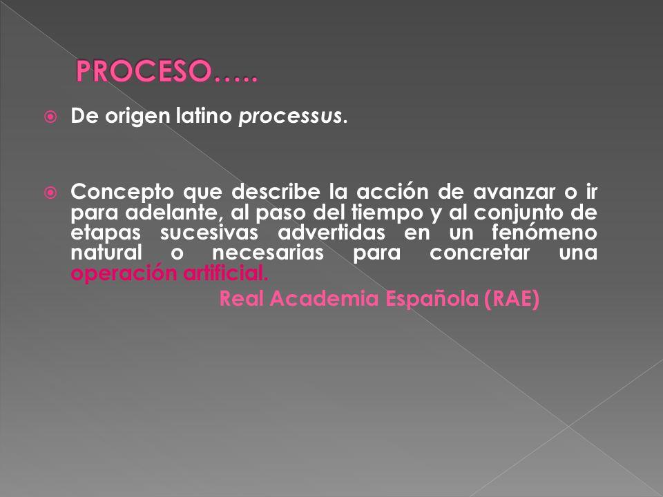 De origen latino processus.