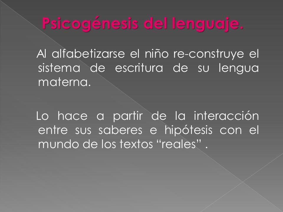 Psicogénesis del lenguaje.