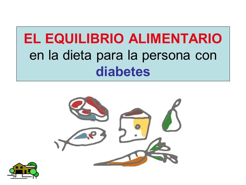 EL EQUILIBRIO ALIMENTARIO en la dieta para la persona con diabetes