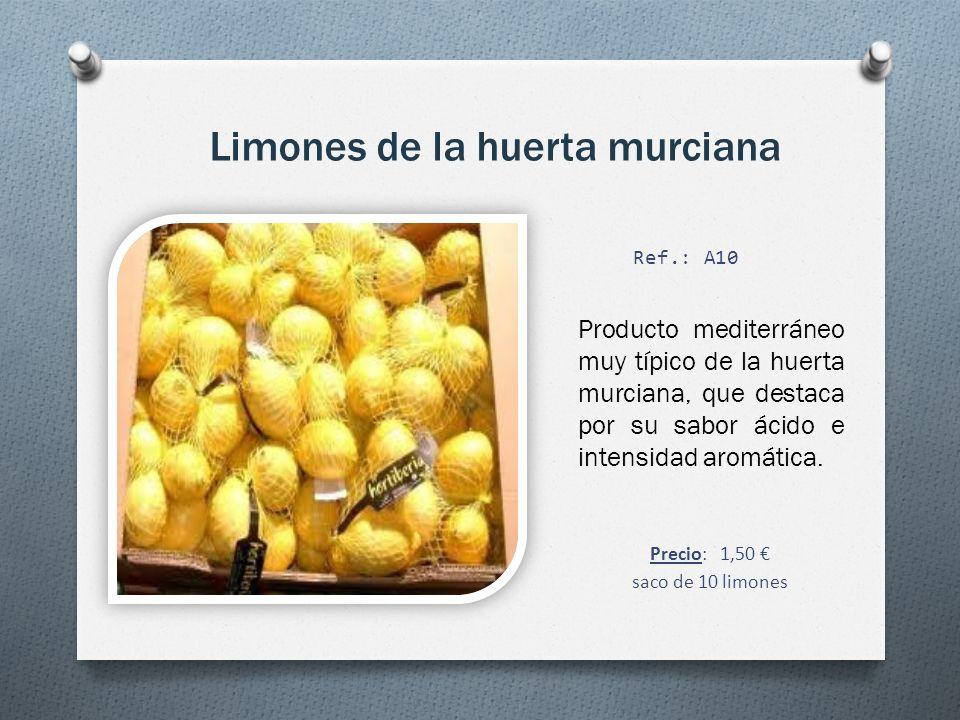 Limones de la huerta murciana Producto mediterráneo muy típico de la huerta murciana, que destaca por su sabor ácido e intensidad aromática.