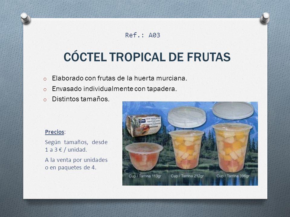 FRUTAS EN GELATINA o Elaborado con frutas de la huerta murciana y gelatina casera.