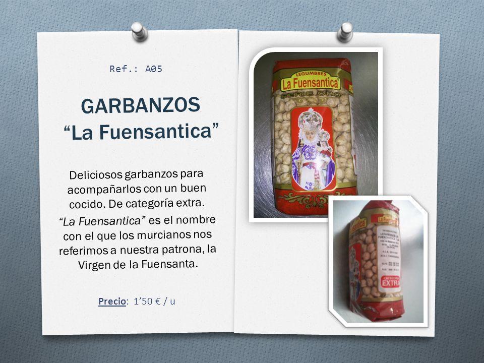GARBANZOS La Fuensantica Deliciosos garbanzos para acompañarlos con un buen cocido.