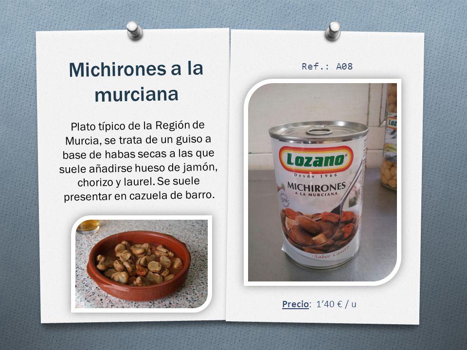 Michirones a la murciana Plato típico de la Región de Murcia, se trata de un guiso a base de habas secas a las que suele añadirse hueso de jamón, chorizo y laurel.