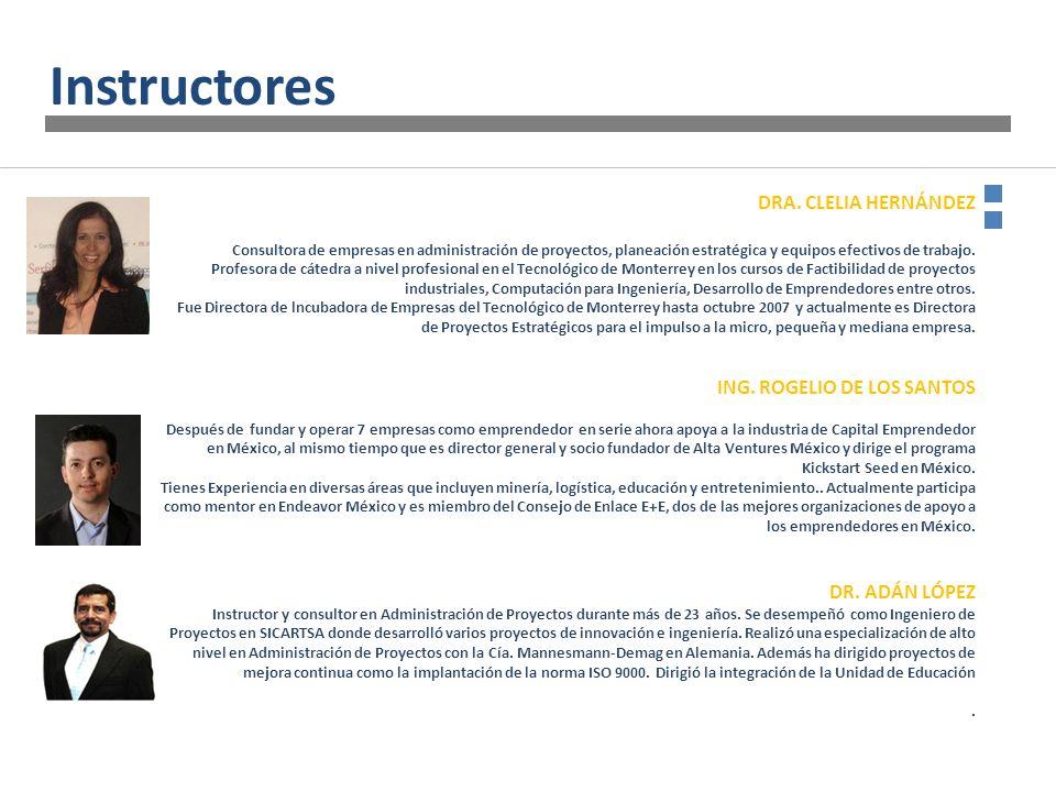 DRA. CLELIA HERNÁNDEZ Consultora de empresas en administración de proyectos, planeación estratégica y equipos efectivos de trabajo. Profesora de cáted