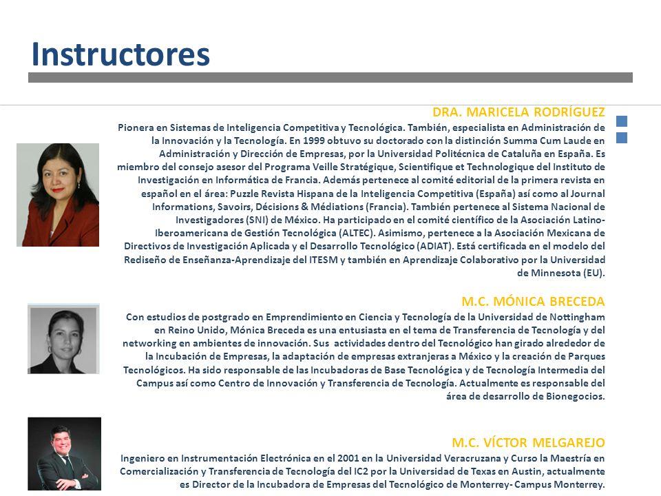 DRA. MARICELA RODRÍGUEZ Pionera en Sistemas de Inteligencia Competitiva y Tecnológica. También, especialista en Administración de la Innovación y la T
